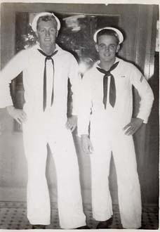 Datwyler & Shipmate on Liberty - Pearl Harbor Nov 52
