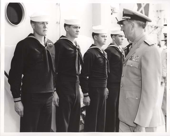 Rear Admiral Carl F. Espie Inspection