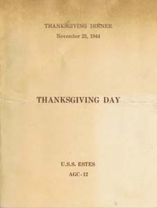 Thanksgiving Invitation 1944