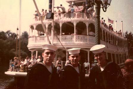 Gary Barron, John Brown, Doug Perault at Disneyland